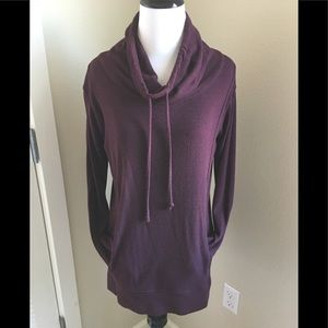 Aerie Burgundy love leggings tunic XS cowl neck